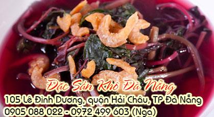 Canh rau dền nấu tôm khô